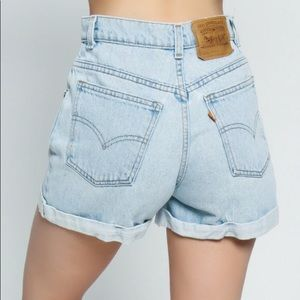 Levi's 954 Vintage High Waisted Button Fly Shorts